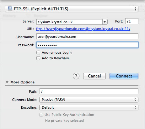 How to upload files using Cyberduck with FTPS and SFTP