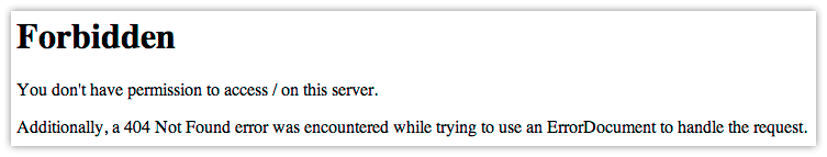 I Get A 403 Forbidden Error When I Try To View My Site